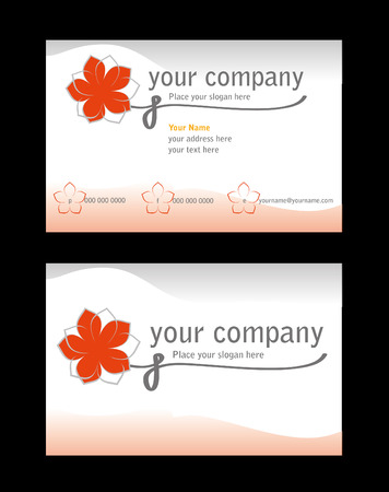 Business card ready for printing