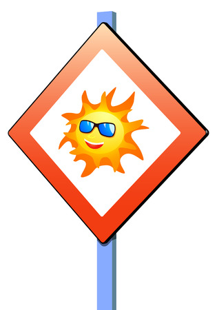 ski goggles: Sign indicating the arrival of summer Illustration