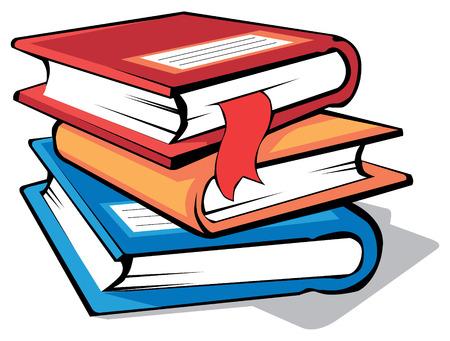 libros: Pila de libros con tapas colores