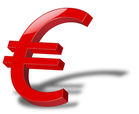 simbol: icona rossa di simbol euro
