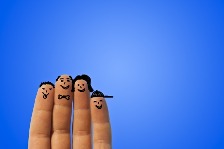 ironic: Ironic portrait of a family of fingers