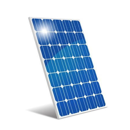 solar electric: Panel photovoltaic Illustration