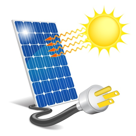 clean energy: Panel photovoltaic Illustration