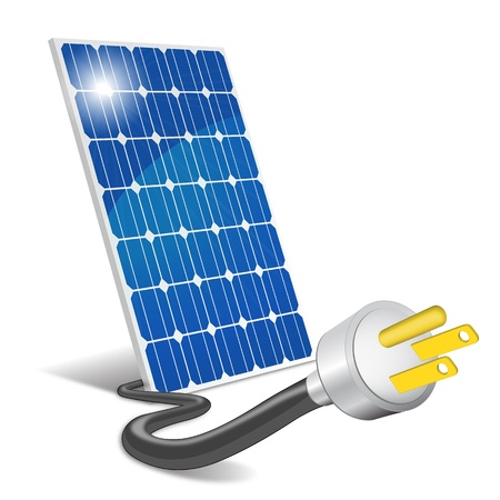 설치: 패널 태양 광 일러스트
