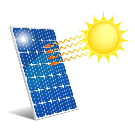 radiations: Panel photovoltaic Illustration