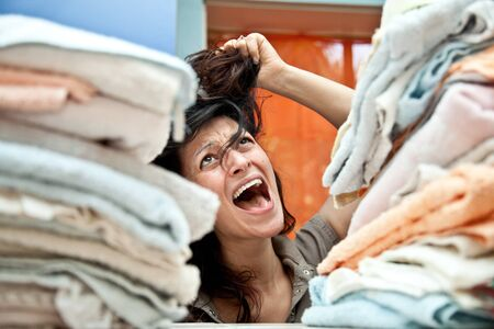 nervousness: desperate housewife and overwhelmed by too many chores