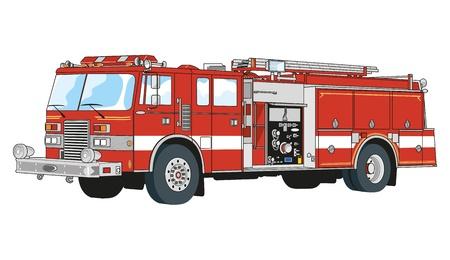 emergency vehicle: camion attrezzati per soccorso e antincendio Vettoriali