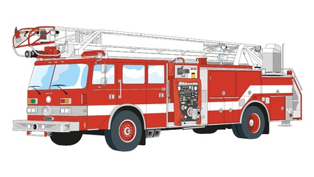 trucks equipped for rescue and fire fighting