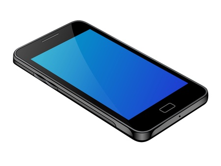 stock quotes: Generation smartphones with blue color display