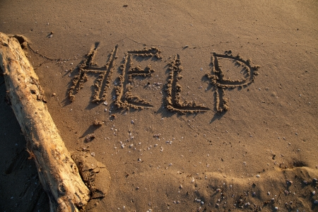 Message help, ask to save Stock Photo - 16958795