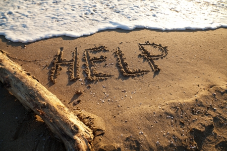 Message help, ask to save Stock Photo - 16958793