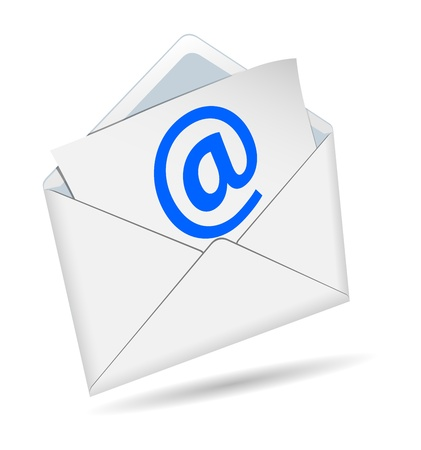 Concept of e-mail on a white background