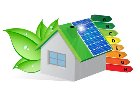 Home environmentally friendly energy-saving 向量圖像