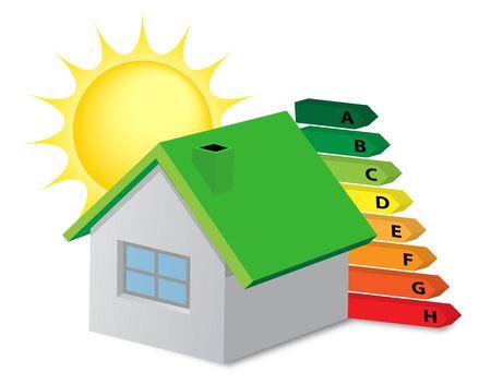 energysaving: Home environmentally friendly energy-saving Illustration