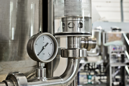 Manometer pressure on the oil and gas industry Stockfoto