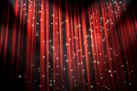 cortinas rojas: Hermosa cortina de teatro rojo con sombras oscuras