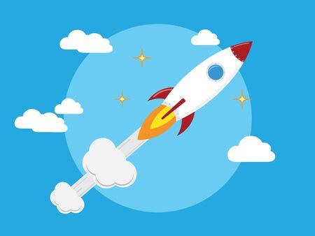 Flat designt business startup launch concept