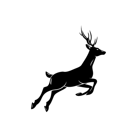 Deer; animal symbol, lemblem or sticker for branding, printing, sports team. Vector illustration. Illustration