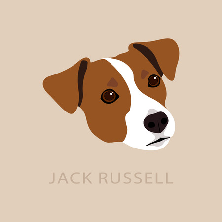 Jack Russell Terrier Head. Symbol dog design