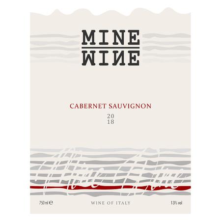 Modern Vector wine label for Red Wine.  向量圖像