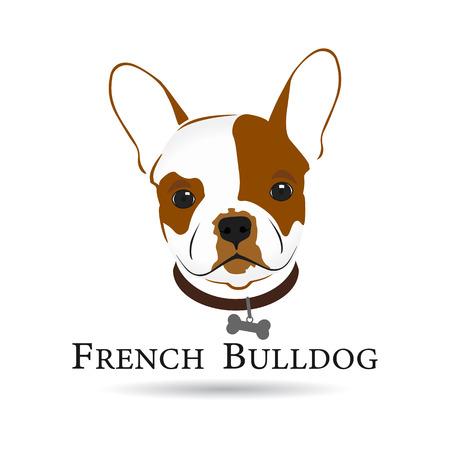 French Bulldog Head. Symbol dog design Illustration