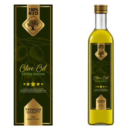 Olive oil labels collection. Hand drawn vector illustration templates for olive oil packaging