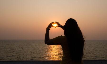 beautify: The sun on love. Stock Photo