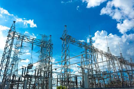 kraftwerk: Elektrische Kraftwerk am Tag Lizenzfreie Bilder