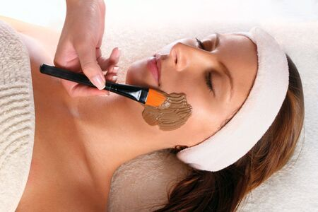 Woman getting a beauty mask treatment Stock Photo - 6204044