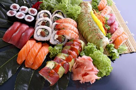 sushi party tray Stock Photo - 6225297