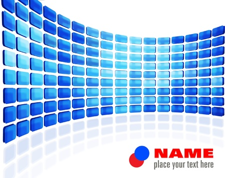 lcd display: Blue abstract wall Illustration