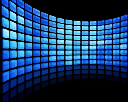 Abstract multimedia flat screen