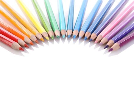 align: assortment of coloured pencils