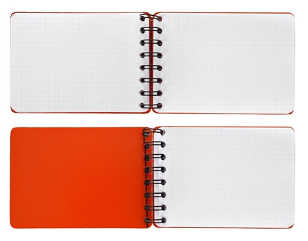 Page in a spiral bound notepads photo
