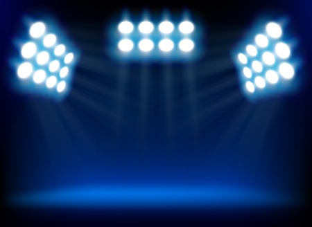 Blue spotlights photo
