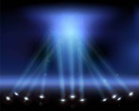 Spotlights in the sky.