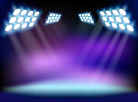 bright center: Blue spotlights.