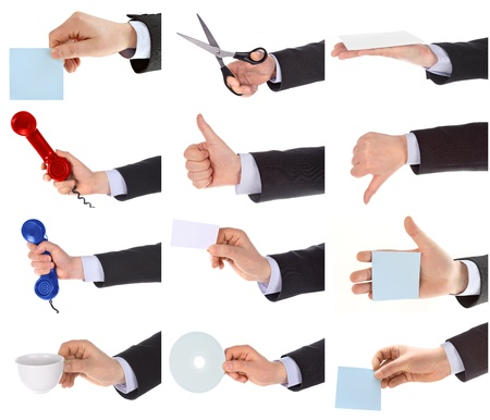 Hand gestures set Stock Photo - 11167675