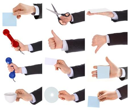 Hand gestures set Stock Photo - 11167675