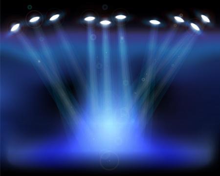 Éclairage de la scène. Vecteurs