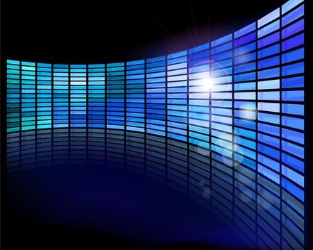Wall of screens Illustration