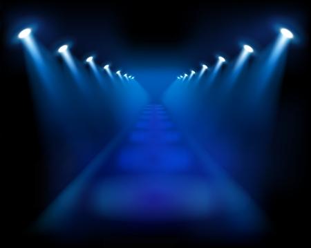 stair: Escaleras azules. Ilustraciones Vectoriales.