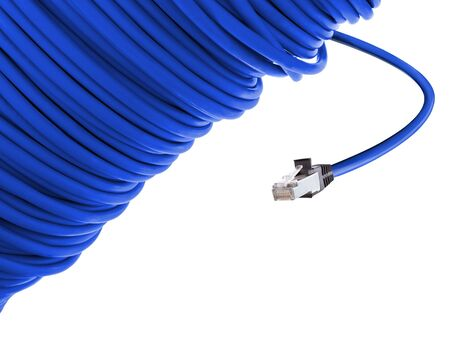 hub computer: blue network cable