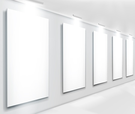 Displays in gallery. Vector illustration.