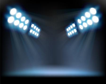 Spotlights. Vector illustration.