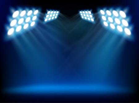Stage lights. Vector illustration. Vetores
