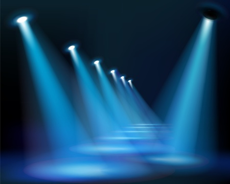blue spotlight: Blue way. Vector Illustration. Illustration