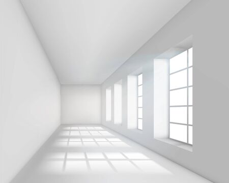 Empty white interior. Vector illustration. Stock Vector - 11674518