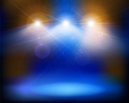 spotlights: Luces del escenario. Ilustraci�n vectorial.