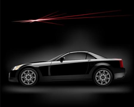 shiny car: Black car. Vector illustration. Illustration
